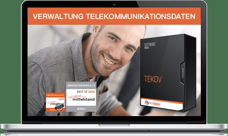 Verwalten Sie ihre Telekommunikationsdaten mit der Mobilfunkverwaltung TEKOV aus dem Hause NETBOOM Solution Gernsbach!