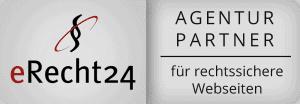 Logo der Agenturpartnerschaft wegen rechtssichere Webseiten von eRecht24.