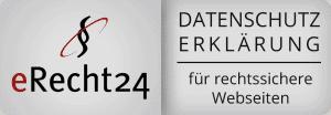 Ein Datenschutzhinweis ist heutzutage ein muss der Firmenwebseite. Um dieses rechtssicher zu gestalten, kann man die Datenschutzerklärung unter eRecht24 überprüfen bzw. gestalten lassen. Die NETBOOM Solution Gernsbach ist Agenturpartner von eRecht24 und lässt seine Webseite regelmäßig überprüfen.