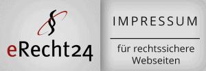 Ein Impressum ist heutzutage ein muss der Firmenwebseite. Um dieses rechtssicher zu gestalten, kann man sein Impressum unter eRecht24 überprüfen bzw. gestalten lassen. Die NETBOOM Solution Gernsbach ist Agenturpartner von eRecht24 und lässt seine Webseite regelmäßig überprüfen.